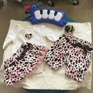 3 Piece set! Newborn leopard print